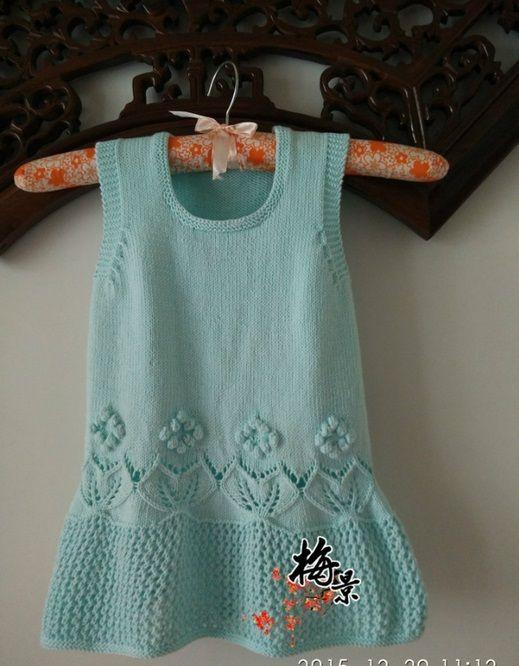 Вязаные платья для девочек летние