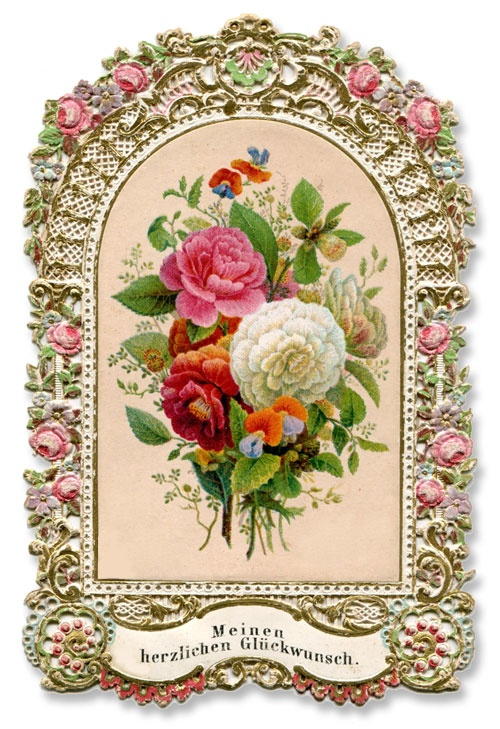 19th Century Birthday Card Ephemera And Cards