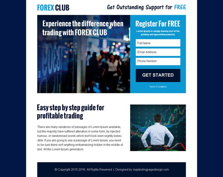 forex club register for free converting ppv landing page design