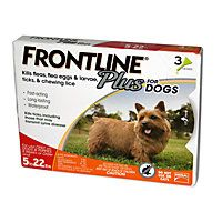 FRONTLINE Plus for Dogs - Orange, For Dogs 5 to 22 lbs. @ healthierpetproducts.com