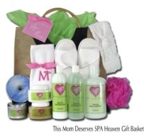 SPA Gift Basket for Mom to help her relax.