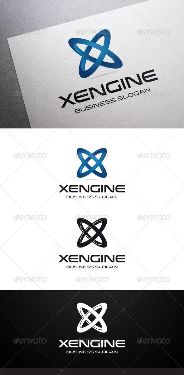 fir letter format%0A Xengine X Letter Logo