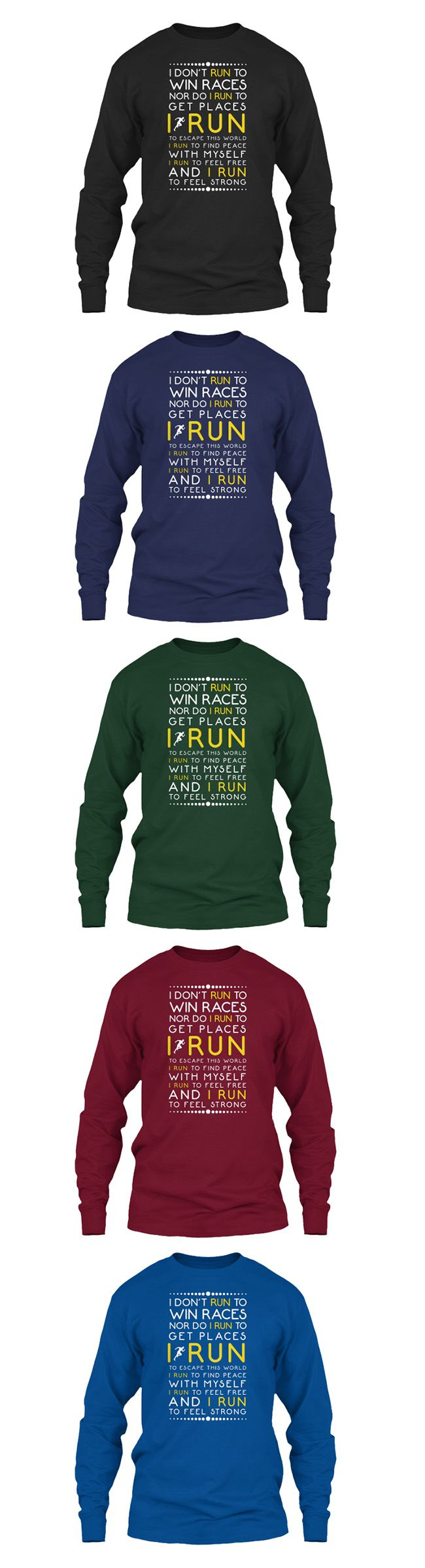 Are you a runner? Express your feelings by this Long Sleeve Tee, Hoodie, and Sweatshirt collection. Grab it now!