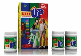 Step Up Height Increaser is a 100% Ayurvedic Body Growth System. Step Up offers Amazing Results! After using StepUp Height Increaser you will see new confidence in yourself. Step Up Height Increaser is a revolutionary step by step total growth system, It gives the required nutrients to the body that help to increase height & also lead to total body growth