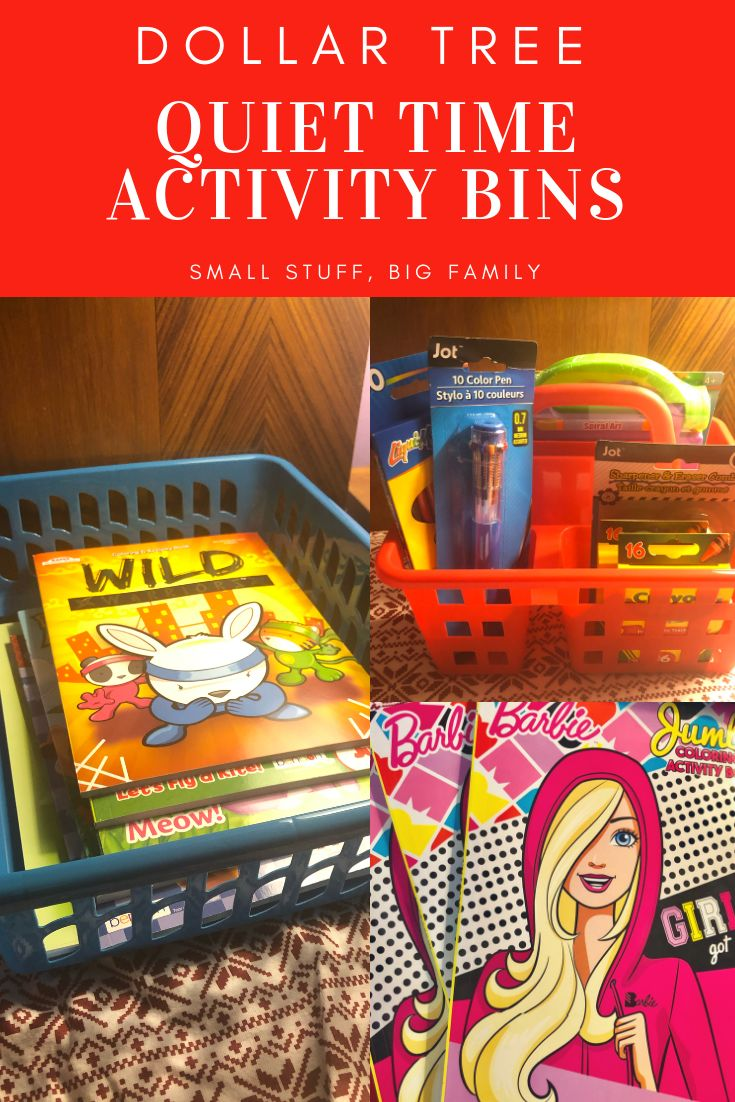 Dollar Tree Quiet Time Activity Bins For Kids Quiet Time Activities Quiet Time Time Activities