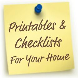 Over 25 FREE printables and checklists for your home {on Home Storage Solutions 101}