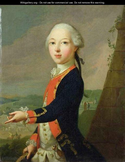 Landgrave Carl as a Child - Johann Heinrich The Elder Tischbein