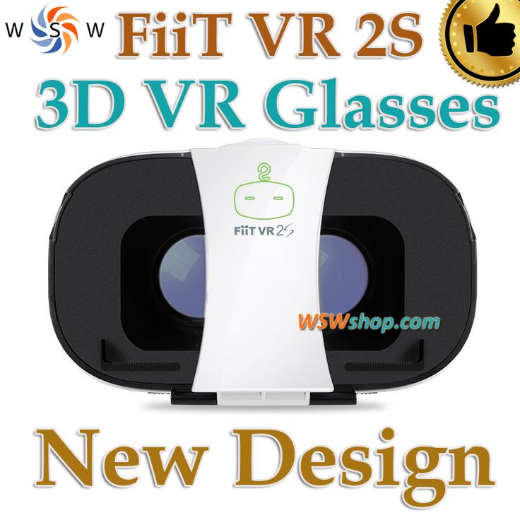 New Design Fiit VR 2S 3D Glasses Virtual Reality Glasses Video Movie Theater Glasses Google Cardboard VR For 4-6.5' Smart Phone