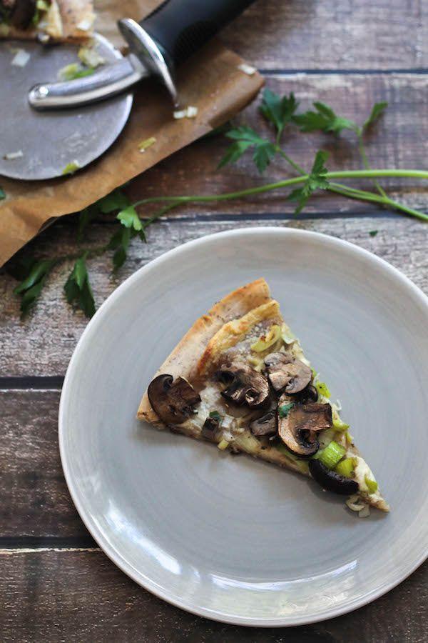 Mushroom & Leek Flatbread Pizza — Food by Mars