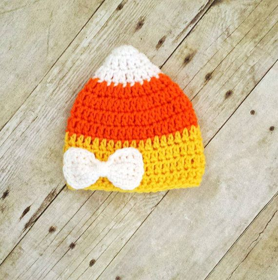 Crochet Baby Halloween Candy Corn Hat by ModernCrochetBaby on Etsy, $20.00