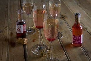 Zest Gourmet Foods Rose Petal Syrup and Hibiscus Flower Syrup