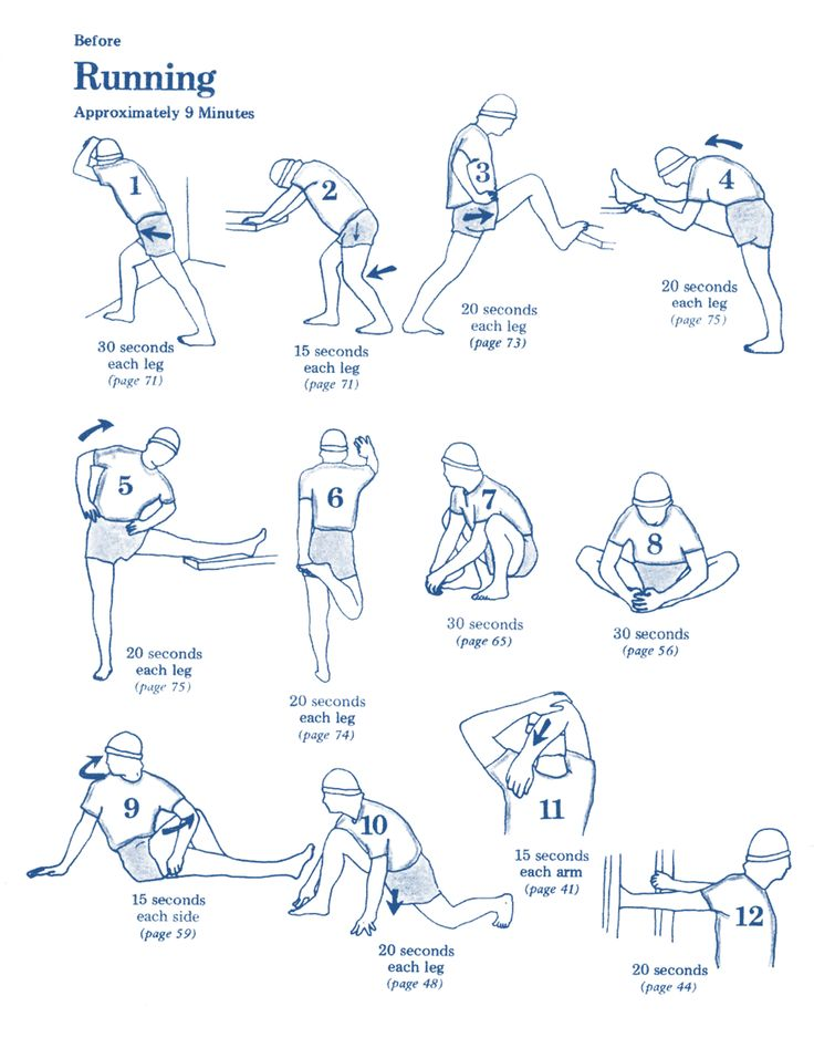 warm up before running