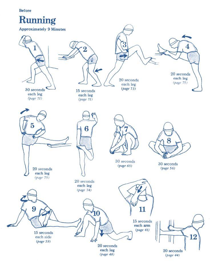 Estiramientos para antes de correr - Stretching before running