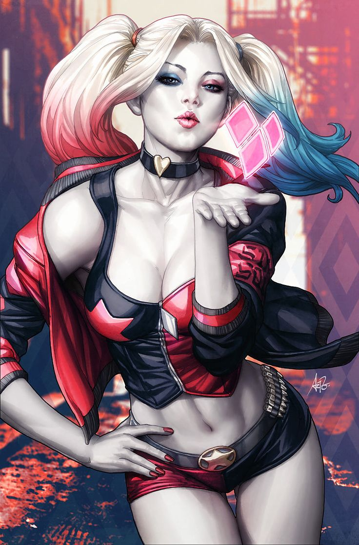 Harley Quinn #1 variant cover by Artgerm | Stanley Lau *