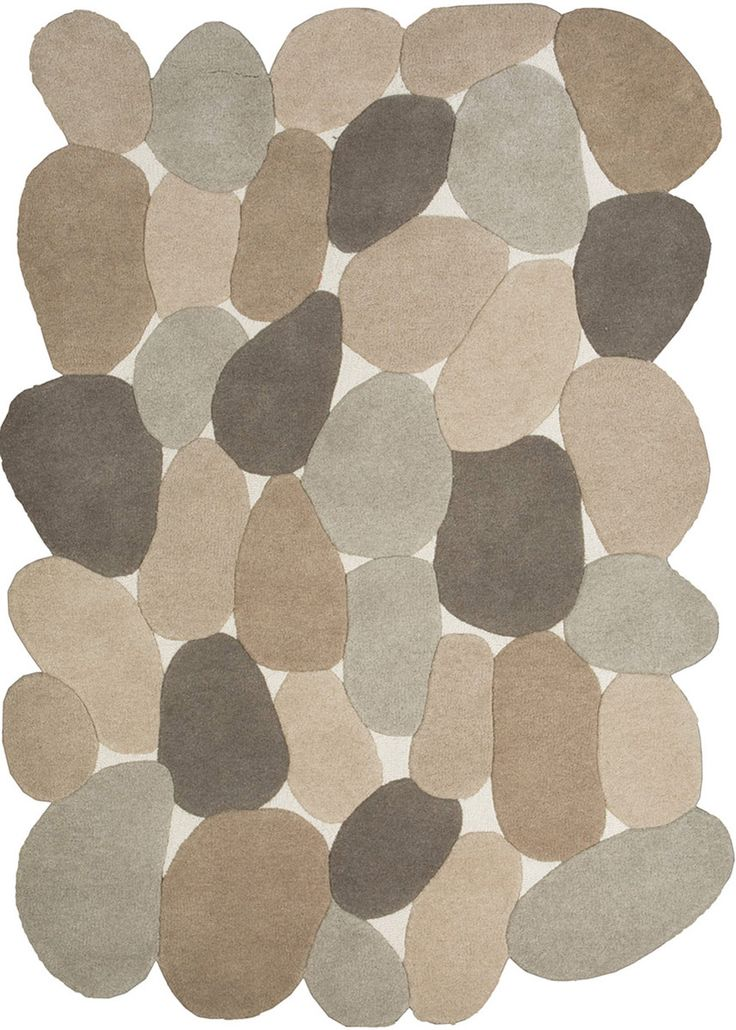 River rocks odd shaped modern rug avant for Area carpets and rugs