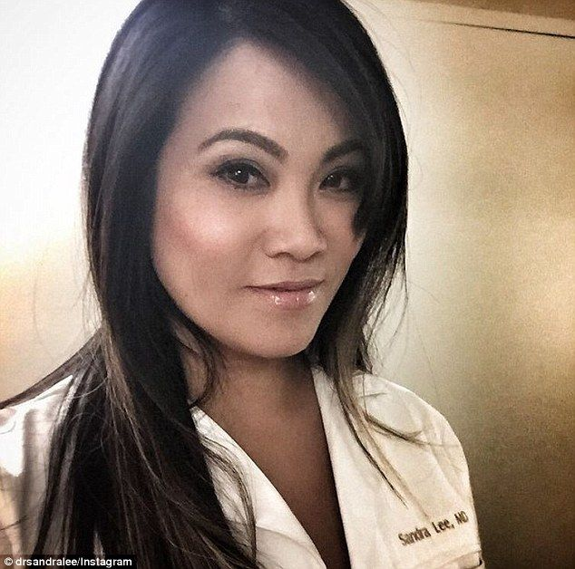 All in a day's work: Dermatologist Dr Sandra Lee, who known as Dr Pimple Popper online, sh...