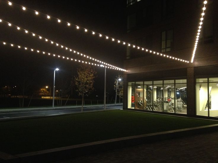One Of Matt S Small Projects At Barry Corner Harvard University Boston A Modern Take On String Festoon Lights With Major Difference No Cable