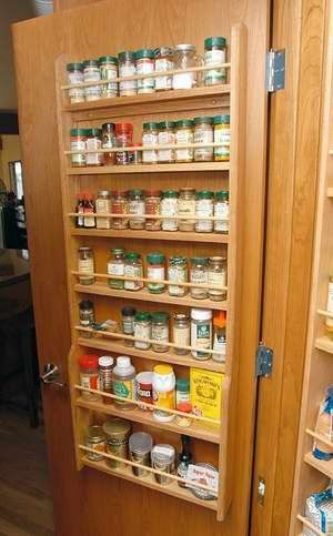 Door Mounted Wood Spice Rack By Woodcraftersmissouri On