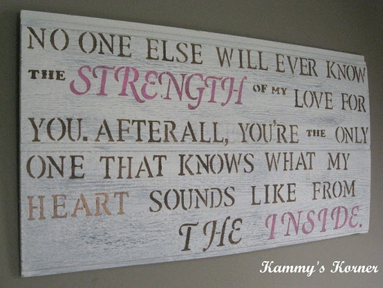 Baby Girl Room Quote Sign