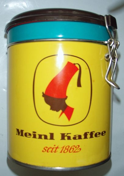 Bild 1: Blechdose MEINL KAFFEE, Vorratsdose 14 cm 12,--
