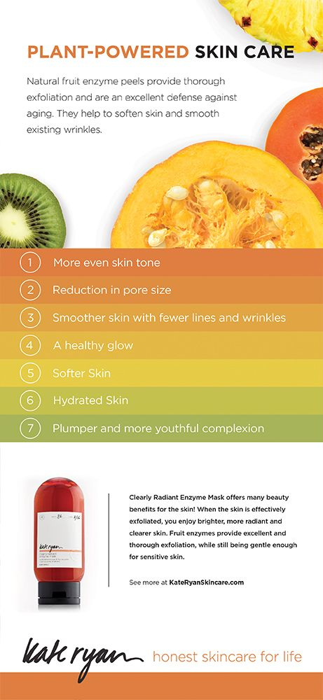 Benefits of using a fruit enzyme peel in your natural skincare routine. Kate Ryan Skincare