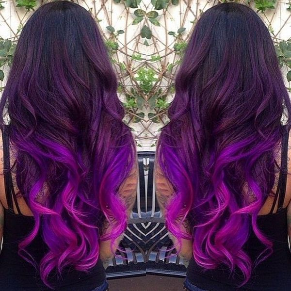 Purple And Black Ombre Hair