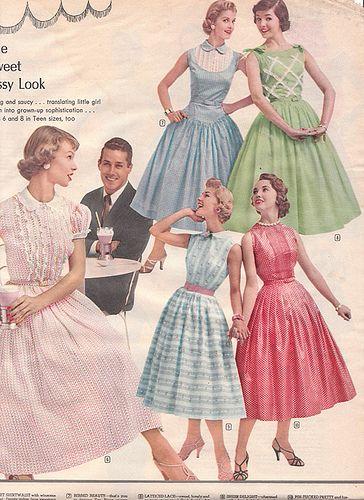Spiegel Catalog Scan, Spring/Summer 1956 by adoredvintage, via Flickr