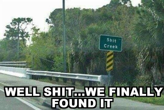 And it looks like I'm without a paddle