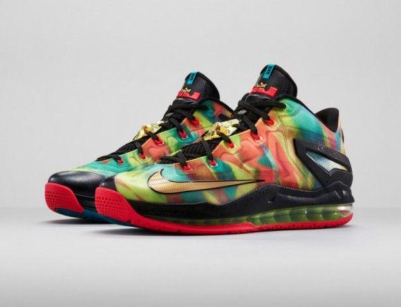 Hot Sale Nike LeBron 11 Cheap sale Atomic Orange Green Abyss-Gla