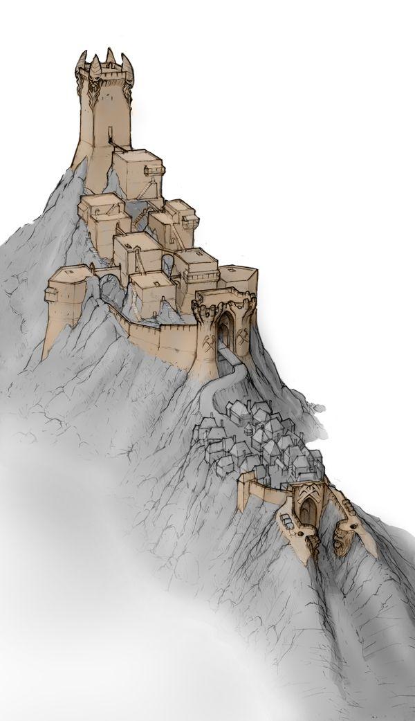 dwarven city by 2blind2draw , via Behance