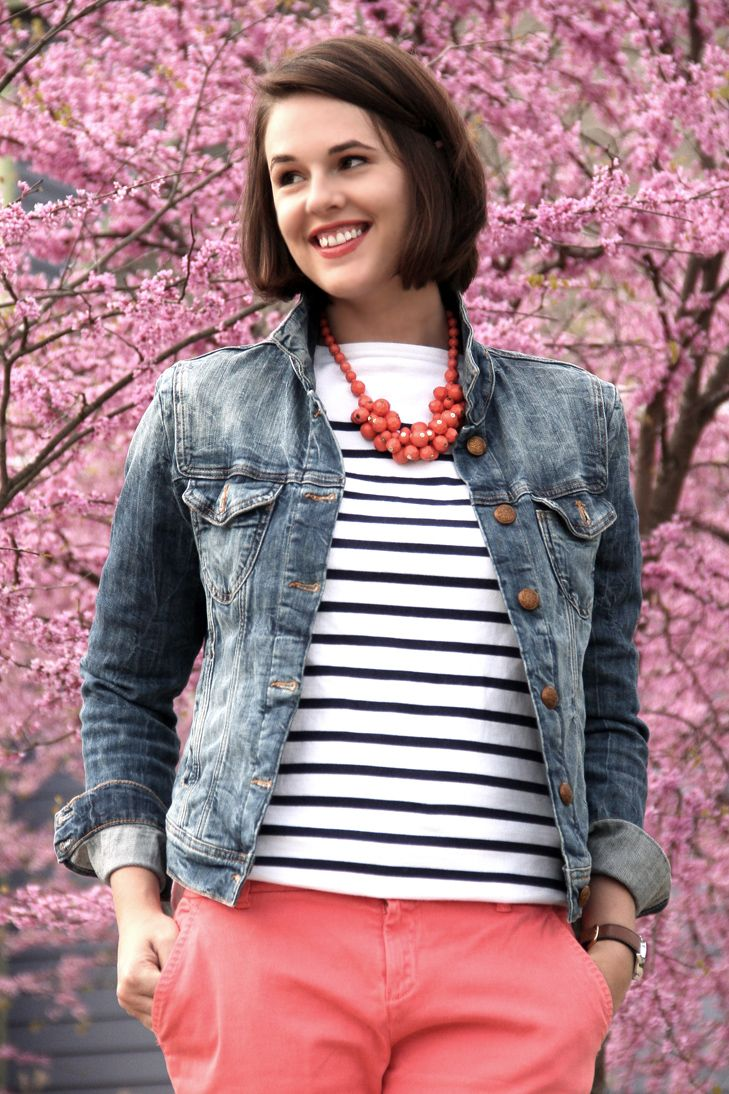 Love the stripes & coral