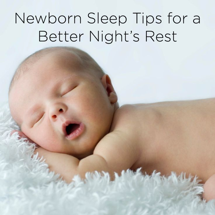 how to make my newborn sleep at night