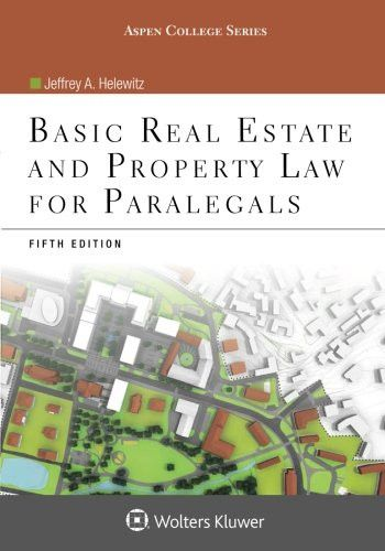 Basic Real Estate and Property Law for Paralegals (Aspen College)