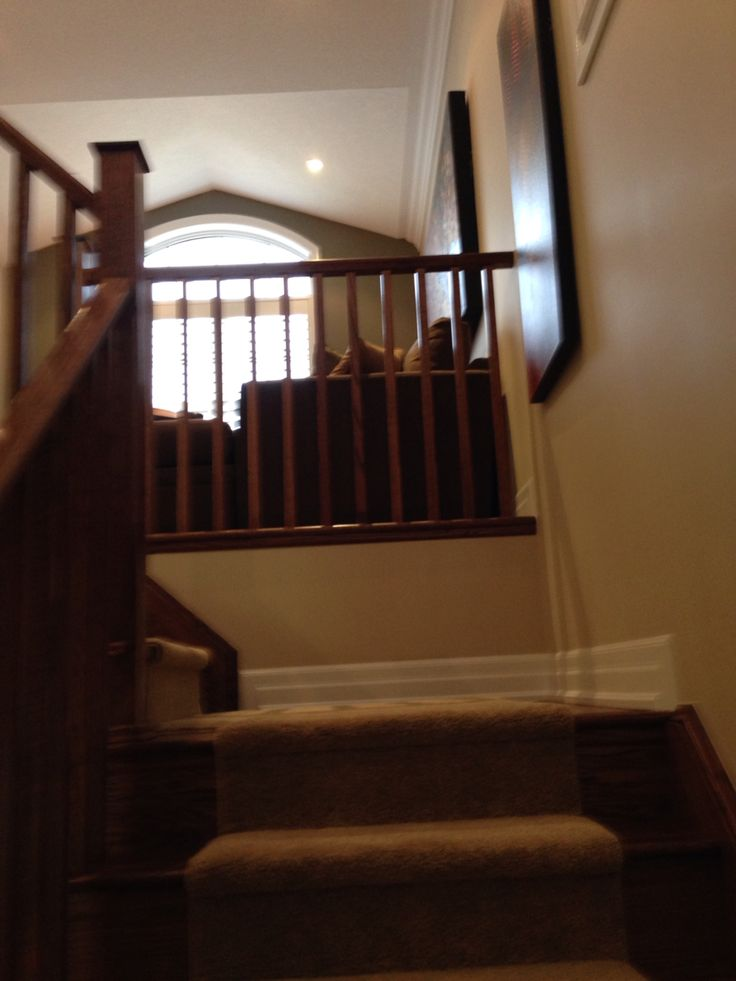 Stairs going up to loft