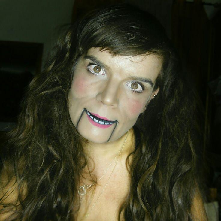 Ventriloquist Puppet Doll Halloween makeup. Freak Show inspired.