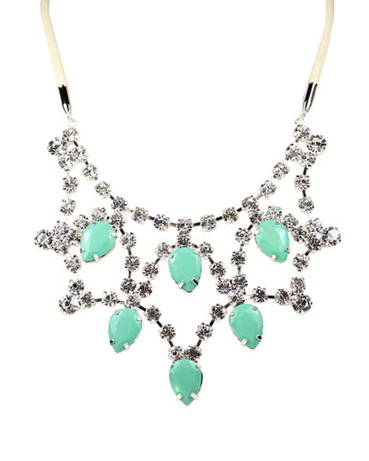 Mint Green Princess Bib Necklace