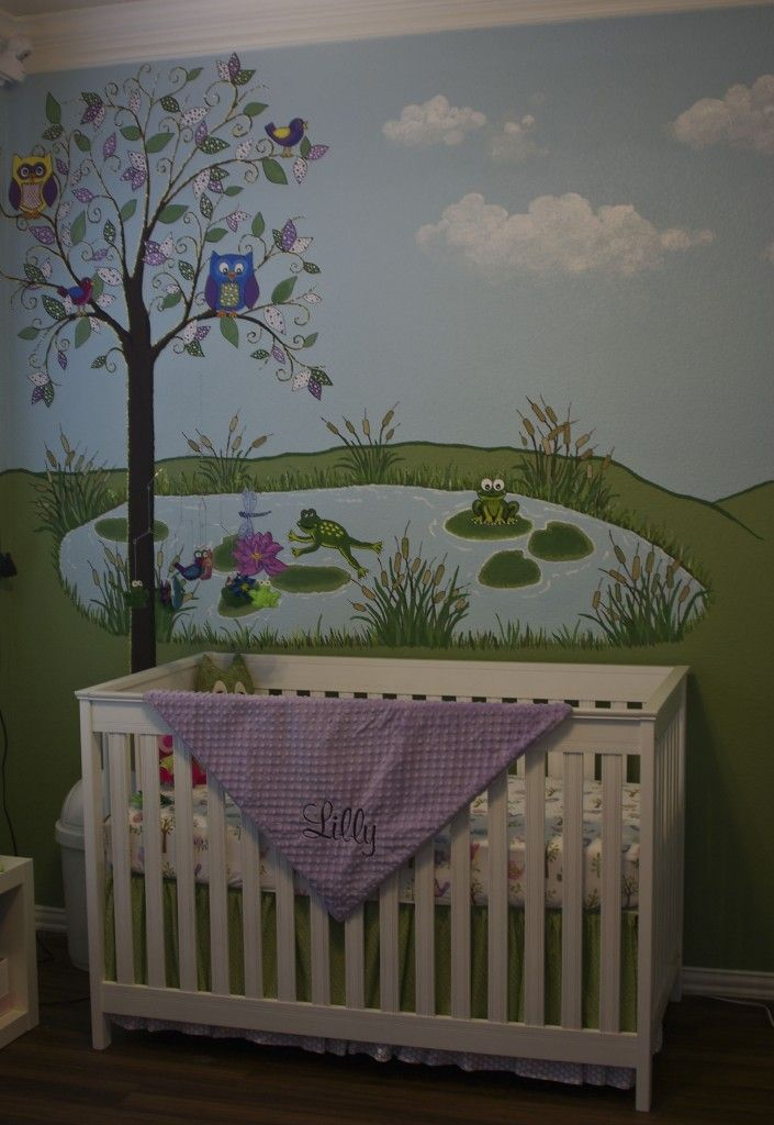 1000 ideas about frog nursery on pinterest turtle for Duck pond mural