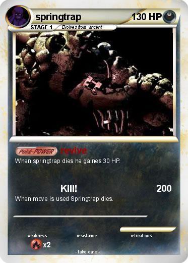 My Pokemon Card Fnaf Pokemon Cards Pokemon Cards