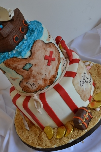 Pirate cake By SandiOh on CakeCentral.com