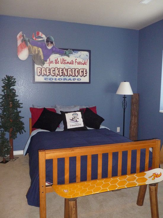 bedroom design simple boys bedroom designs with winter themed ideas and slate blue wall paint