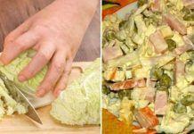 Салат «Леди Винтер» с пекинской капустой и горошком. Просто и вкусно!