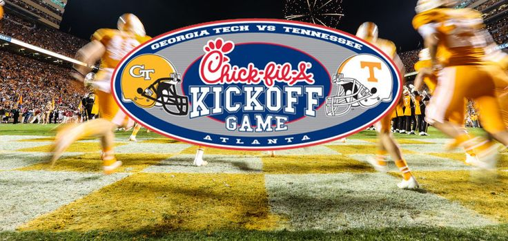 Shirts With Random Triangles: Tennessee and Georgia Tech to play in 2017 Chick-fil-A Kickoff Game.