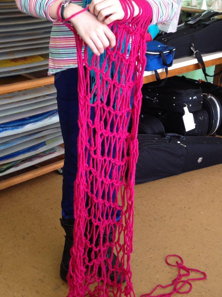 Fifth grade arm knitting