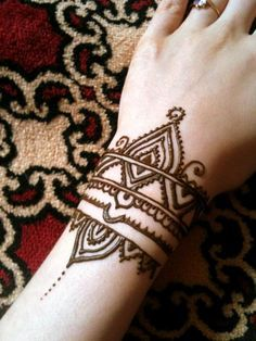 cool henna designs for wrists - Google Search