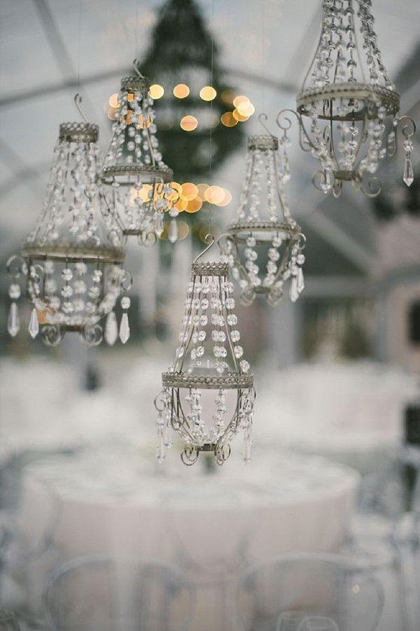 diy mini chandeliers