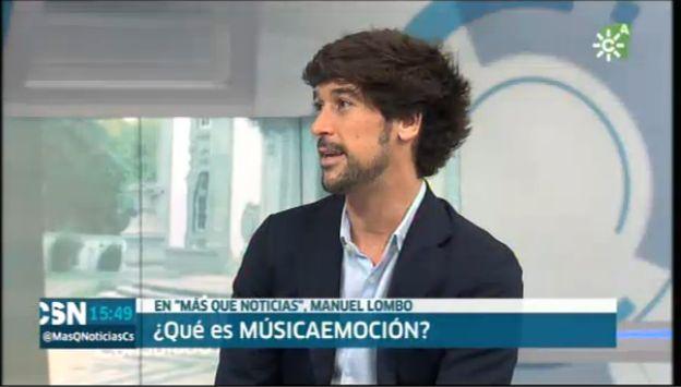 Instante de la entrevista a @ManuelLombo en Canal SurTv presentando @musicaemocion_  Podéis verla y disfrutar de su interpretación de #AntonioVargasHeredia en el siguiente enlace: http://alacarta.canalsur.es/television/video/mas-que-noticias--jueves/1844174/16