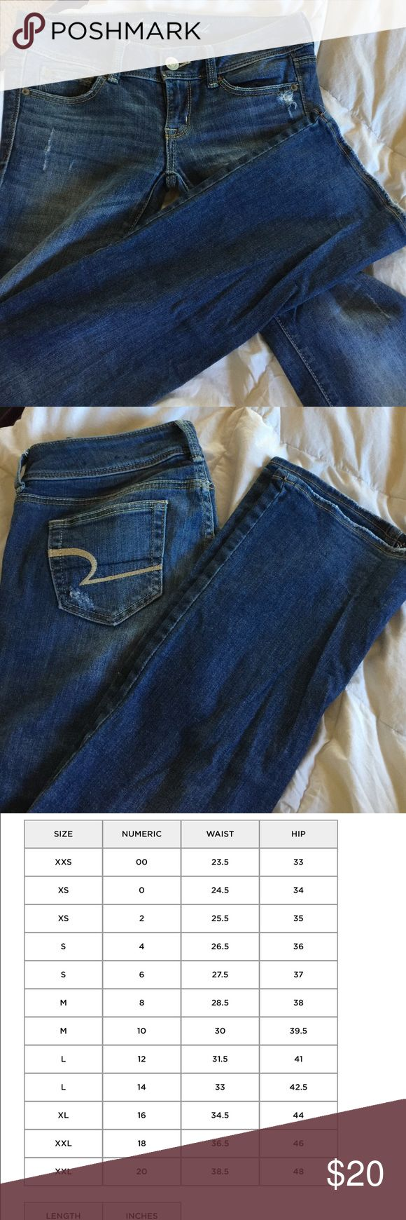 American Eagle Slim Boot jean Great condition AE slim boot.  Size 2 regular inseam.  See pictures for more sizing information. American Eagle Outfitters Jeans Boot Cut