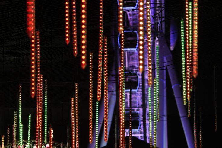 Brisbane Airport Light Garden, Cultural  Forecourt South Bank for Brisbane Festival 2013