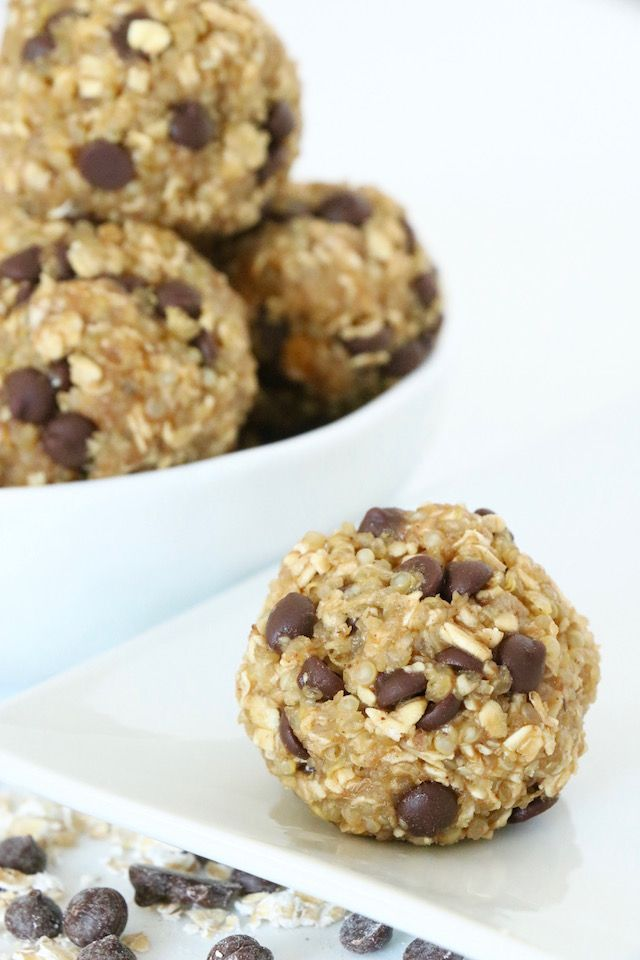 This might be my easiest recipe ever.  No baking or cooking required make these perfect for summer.  Just mix, form into balls and freeze.  Energy bites make the perfect sweet and nutritious snack and are incredibly satisfying.  They are loaded with whole grains fiber
