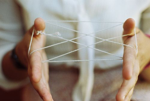 playing cat's cradle